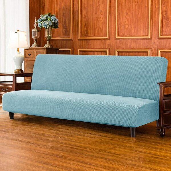 Stretch Jacquard Box Cushion Futon Slipcover By Latitude Run