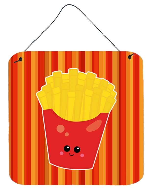 East Urban Home French Fries Face Vertical Wall Décor & Reviews ...
