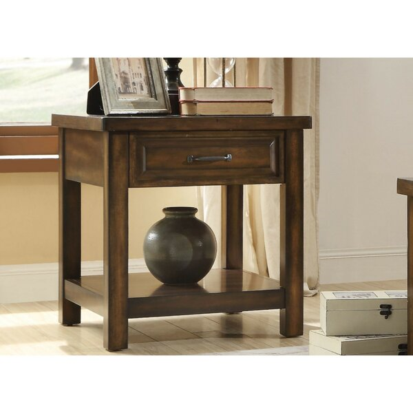 Daenerys Wooden End Table with Storage by Alcott Hill