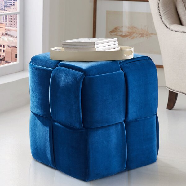 Cutler Cube Ottoman by Ebern Designs