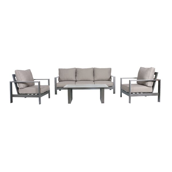 Lepage 4 Piece Sofa Seating Group with Cushions by Breakwater Bay