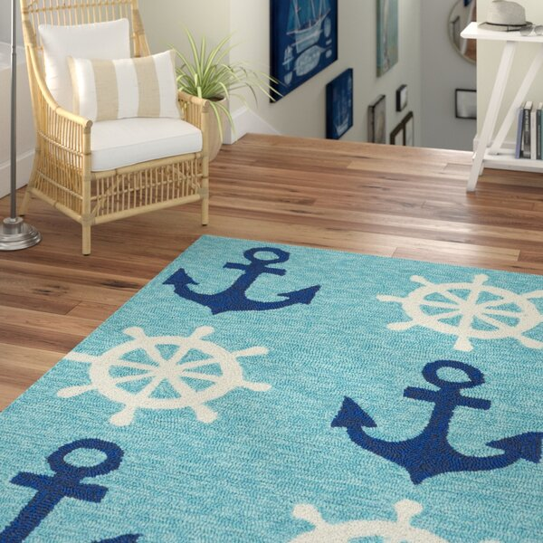 Sereno Traditional Handmade Abstract Indoor/Outdoor Area Rug by Beachcrest Home