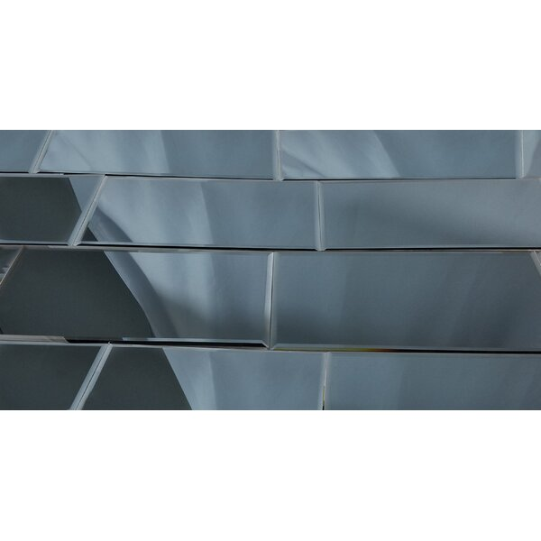 Echo 8 x 16 Mirror Glass Field Tile in Graphite by Abolos