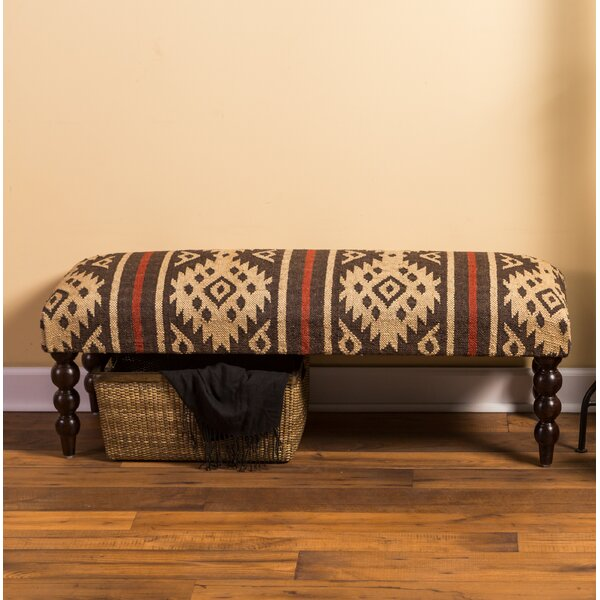 Edgecumbe Upholstered Bench by Loon Peak