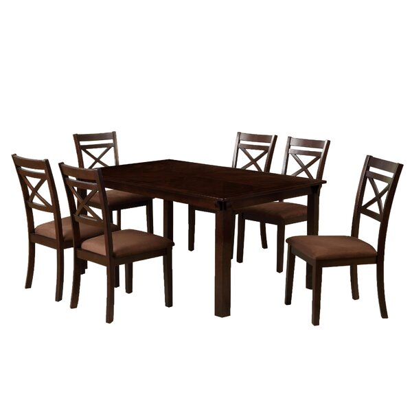 Easton 7 Piece Solid Wood Dining Set by Hokku Designs