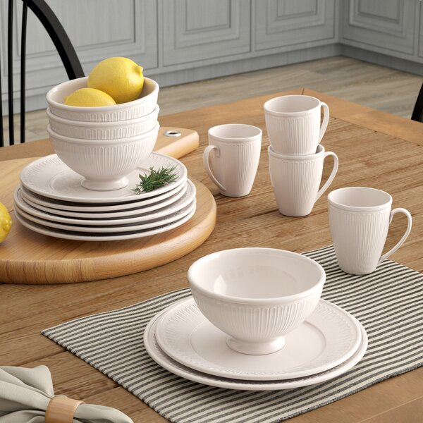 Guillaume 16 Piece Dinnerware Set, Service for 4 by Laurel Foundry Modern Farmhouse