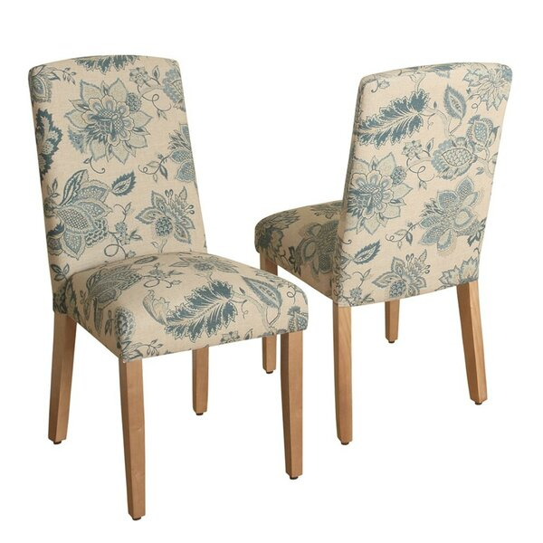 Rasberry Upholstered Dining Chair (Set of 2) by Canora Grey