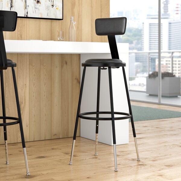 Height Adjustable Stool with Adjustable Backrest
