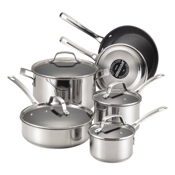 Genesis 10 Piece Non-Stick Stainless Steel Cookware Set by Circulon