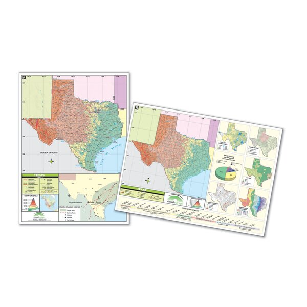 Thematic Deskpad Map - Texas by Universal Map