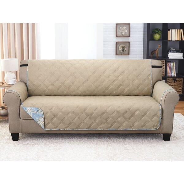 Box Cushion Sofa Slipcover By Highland Dunes