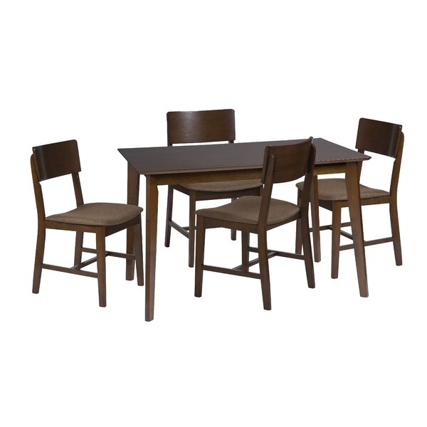 Bourque 5 Piece Dining Set By Corrigan Studio Savings