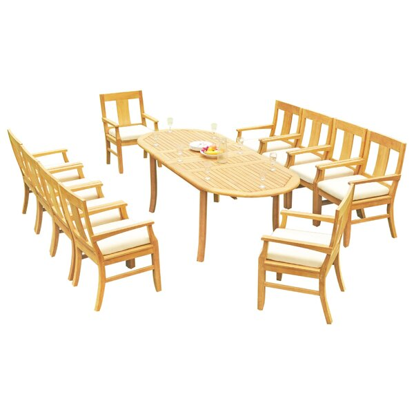 Kevon 11 Piece Teak Dining Set by Rosecliff Heights