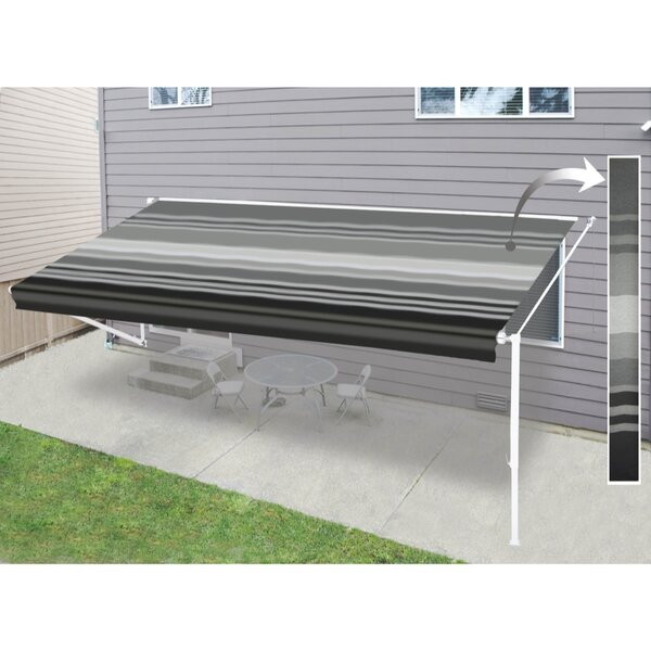 Motorized Retractable Patio Awning by ALEKO