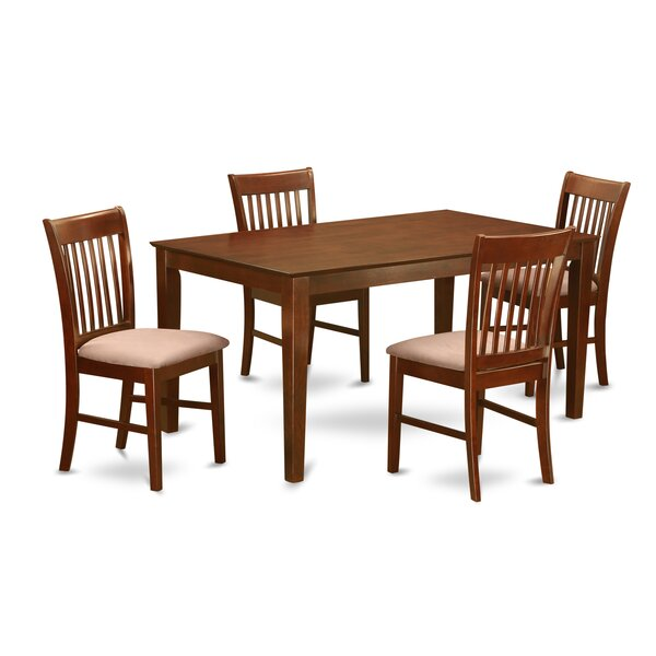 Smyrna 5 Piece Solid Wood Dining Set By Charlton Home Fresh