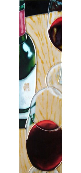 Wine Bottles Tile Wall Decor by Continental Art Center