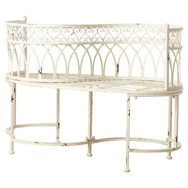 Lemoine Iron Patio Bench by Lark Manor