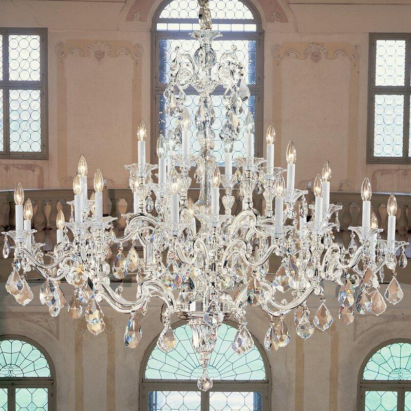 Classic lighting via firenze 30 light crystal chandelier reviews via firenze 30 light crystal chandelier aloadofball Images