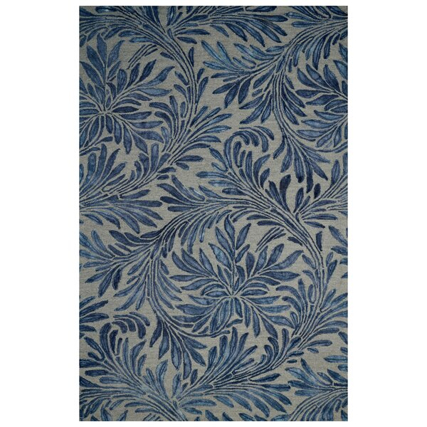 Floral Hand-Woven Beige/Blue Area Rug by Eastern Weavers