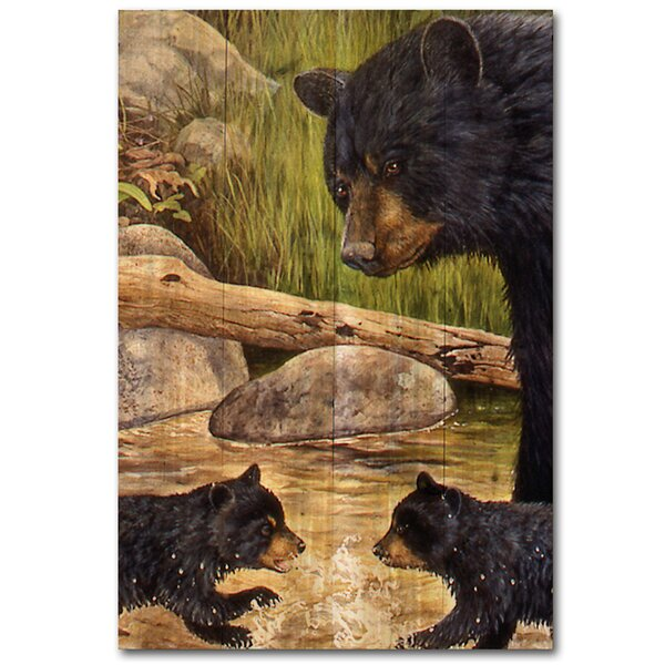 Bear Creek Gang Painting Print Plaque by WGI-GALLERY
