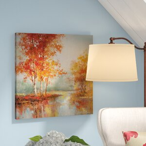 'Autumn's Grace I' Oil Painting Print on Wrapped Canvas by Three Posts