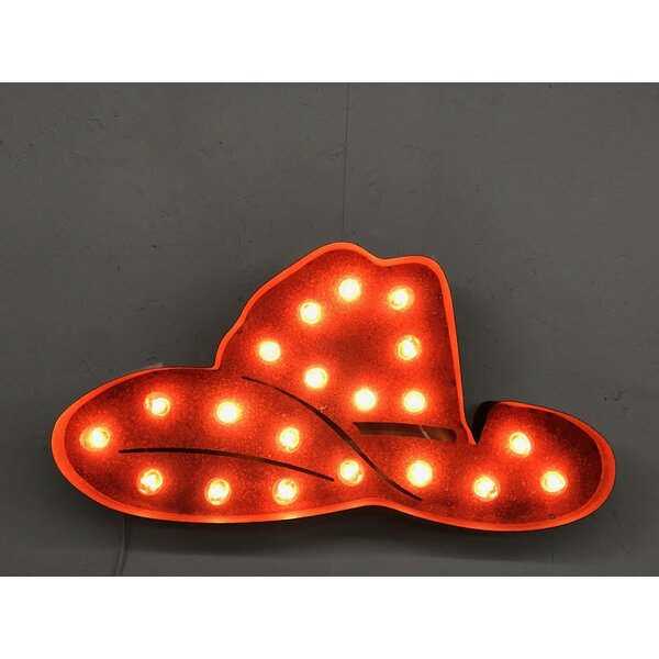 Cowboy Hat 2 Foot Icon Steel Marquee Sign by Latitude Run
