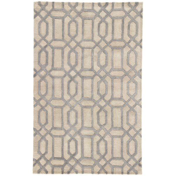 Hebb Hand-Tufted Feather Gray/Tan Area Rug by Mercer41