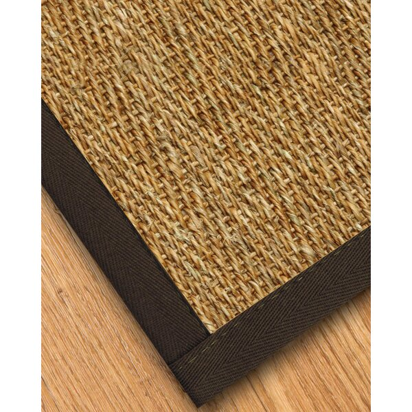 Maglio Border Hand-Woven Brown/Stone Area Rug by Gracie Oaks