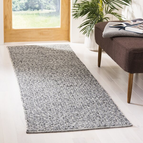 Shevchenko Place Hand-Woven Black/Gray Area Rug by Wrought Studio
