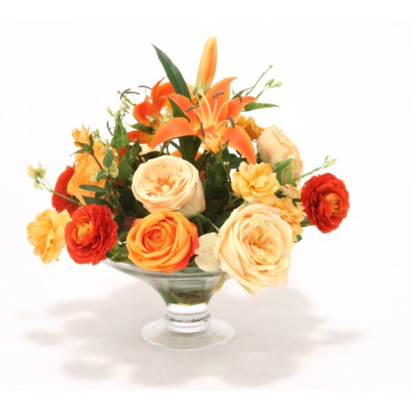 Mixed Centerpiece in Compote by Distinctive Designs