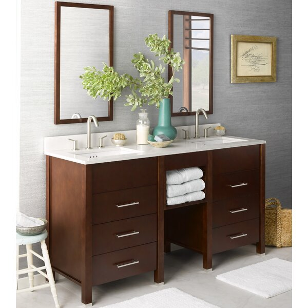 Kali 61 Double Bathroom Vanity Set with Mirror by Ronbow