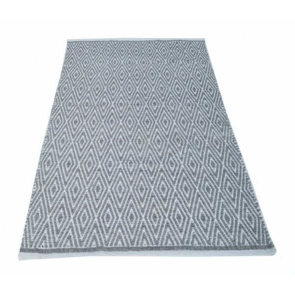 Fortin Textured Gray/White Indoor/Outdoor Area Rug by Bungalow Rose