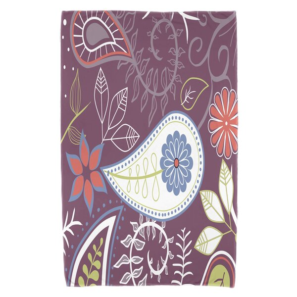 Vinoy Paisley Floral Beach Towel by Bungalow Rose