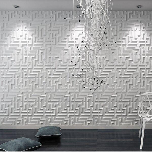 Heissenberger Maze 19.7 L x 19.7 W 3D Embossed Wallpaper Panel by Orren Ellis