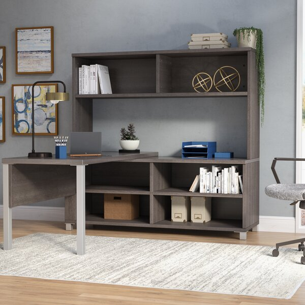 Ariana 3-Piece L-Shape Desk Office Suite by Mercury Row