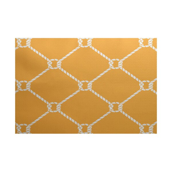 Bridgeport Yellow Indoor/Outdoor Area Rug by Beachcrest Home