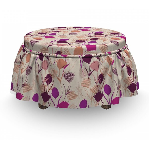 Carnations And Tulips Ottoman Slipcover (Set Of 2) By East Urban Home