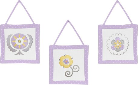 3 Piece Suzanna Wall Hanging Set by Sweet Jojo Designs