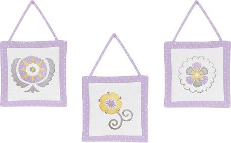 3 Piece Suzanna Wall Hanging Set by Sweet Jojo Designs