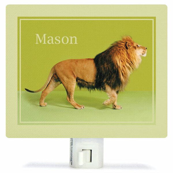 Lion on Green Night Light by Oopsy Daisy