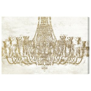 'Glam Chandelier' Graphic Art on Wrapped Canvas by Oliver Gal
