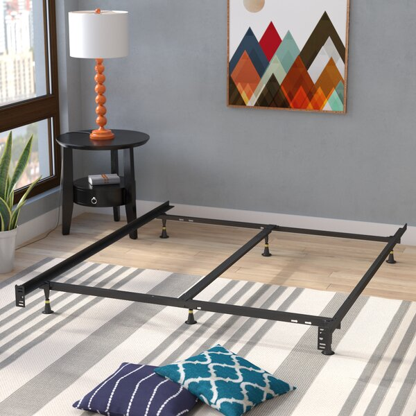 6 Leg Adjustable Metal Bed Frame by Symple Stuff