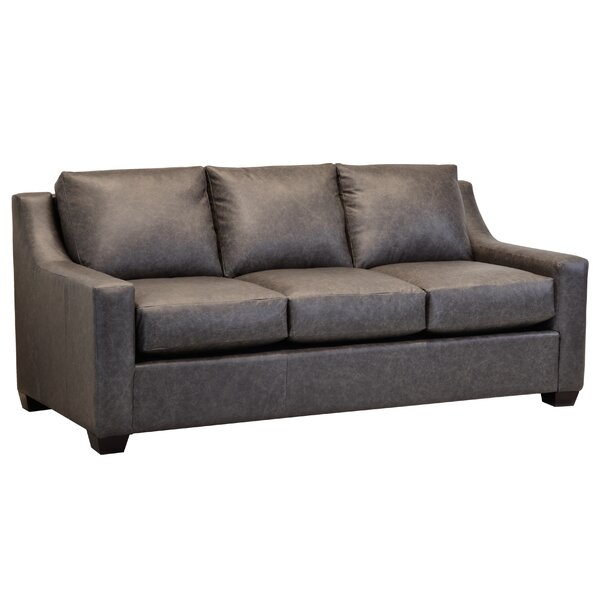 Review Made In Usa Waldemar Distressed Grey Top Grain Leather Sofa