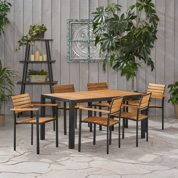 Shepard Outdoor 7 Piece Dining Set by Breakwater Bay
