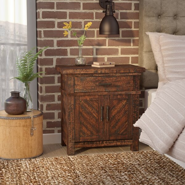 Ismay 1 Drawer Nightstand by Three Posts