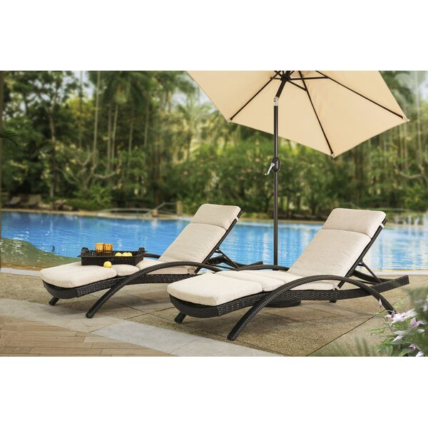 Charterhouse Reclining Chaise Lounge with Cushion (Set of 2) by Brayden Studio