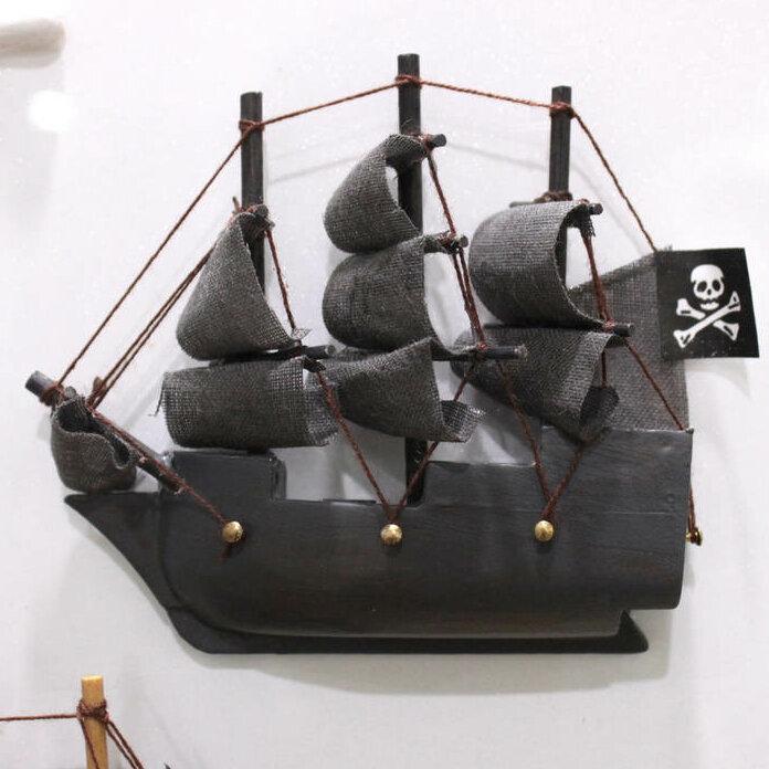 Breakwater Bay Leesburg Dutchman Magnet Model Pirate Ship Wall Decor Wayfair