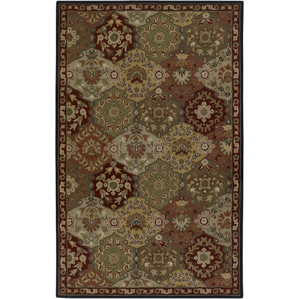 Topaz Red/Olive Area Rug by World Menagerie