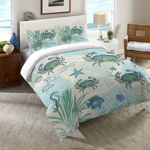 Dayne Crab Comforter by Highland Dunes
