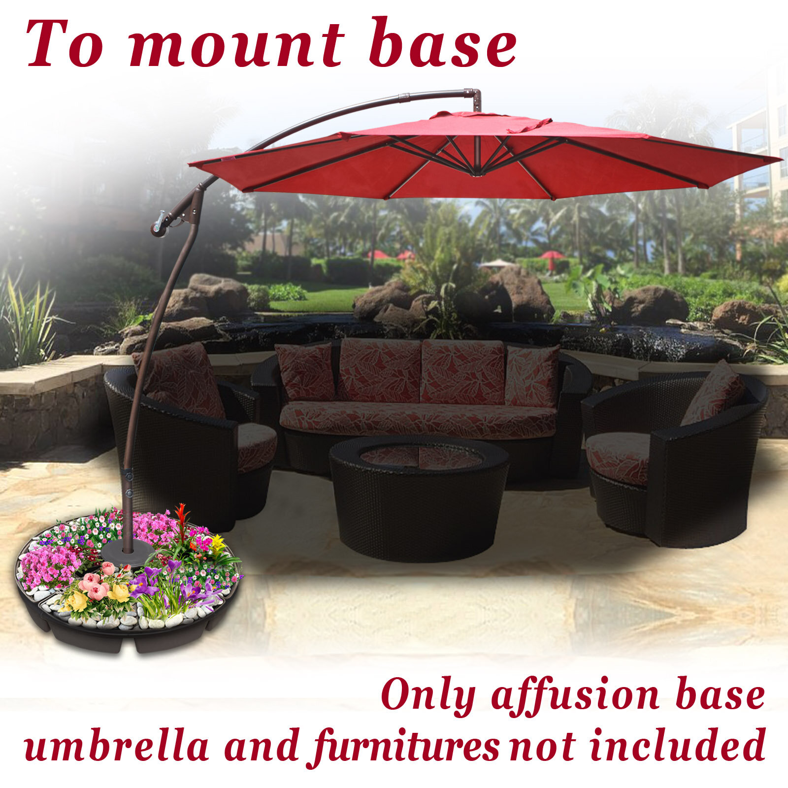 August Grove Schroeder Deck Parasol Weight Plastic Free Standing